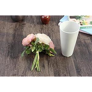 LtrottedJ Artificial Rose Silk Flowers ,5 Flower Head Leaf Garden Decor DIY 5