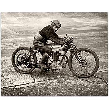 1950 SPAIN MOTORCYCLE RACING 12X18 POSTER GREAT SPEEDWAY BIKE RACER ART GRAPHICS