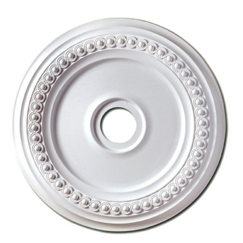 - Focal Point 83224 24-Inch Rondel Medallion 24 3/8-Inch by 24 3/8-Inch by 1 5/8-Inch, Primed White
