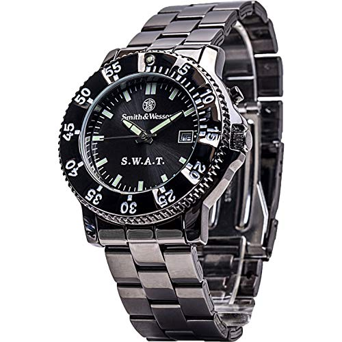 Smith & Wesson Men's SWW-45M S.W.A.T. Black Metal Strap Watch