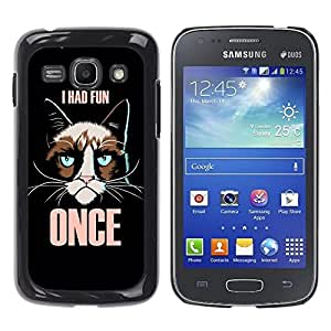 Dragon Case - FOR Samsung Galaxy Ace 3 - i had fun - Caja protectora de pl??stico duro de la cubierta Dise?¡Ào Slim Fit
