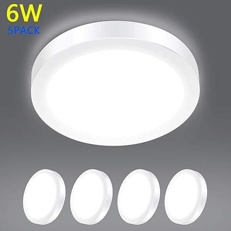 W Lite Plafonnier Led 6w Montage Encastré Plafonnier Led Rond Surface Mural Décran Lampe 6000 Kblanc Lumière Du Jour Ac 86 265 V 40 W Ampoule