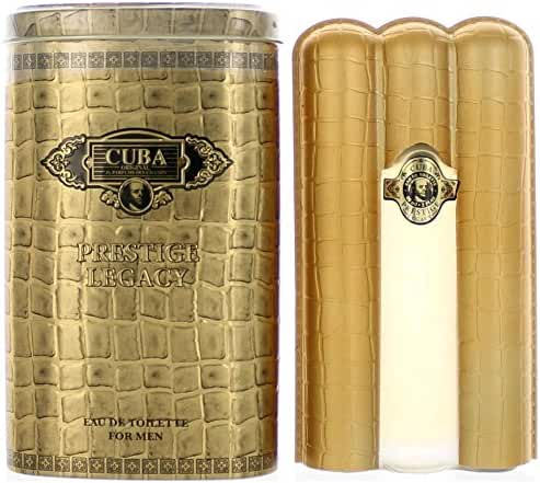 Cuba Prestige Legacy Eau De Toilette Spray Parfums Des Champs for Men, 3 Ounce