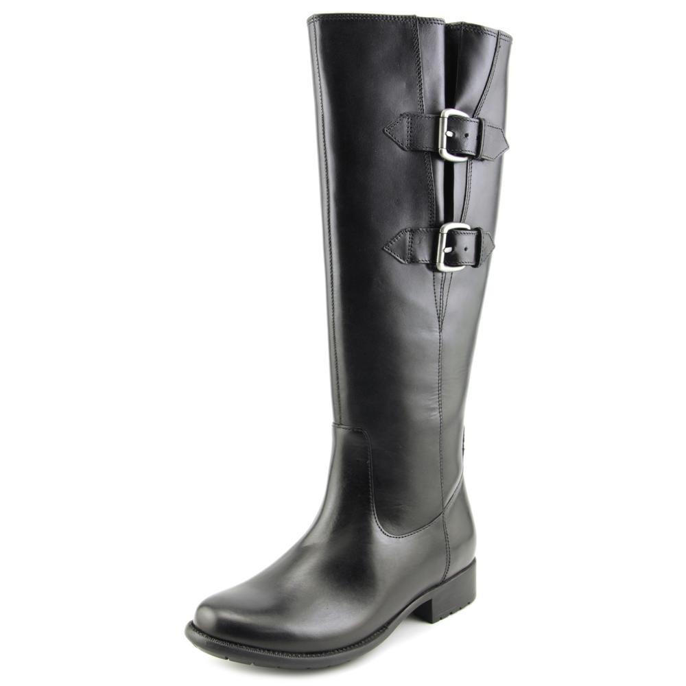 CLARKS Women's Plaza Town Riding Boot B00UCWCX74 7 B(M) US|Black Leather
