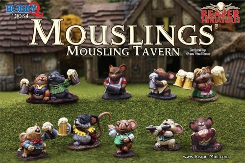Reaper Miniatures 10034 Mousling Tavern Boxed Set