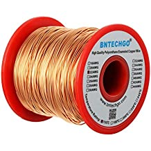 BNTECHGO 22 AWG Magnet Wire - Enameled Copper Wire - Enameled Magnet Winding Wire Temperature Rating 155℃ Widely Used for Transformers Inductors