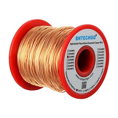 BNTECHGO 22 AWG Magnet Wire - Enameled Copper