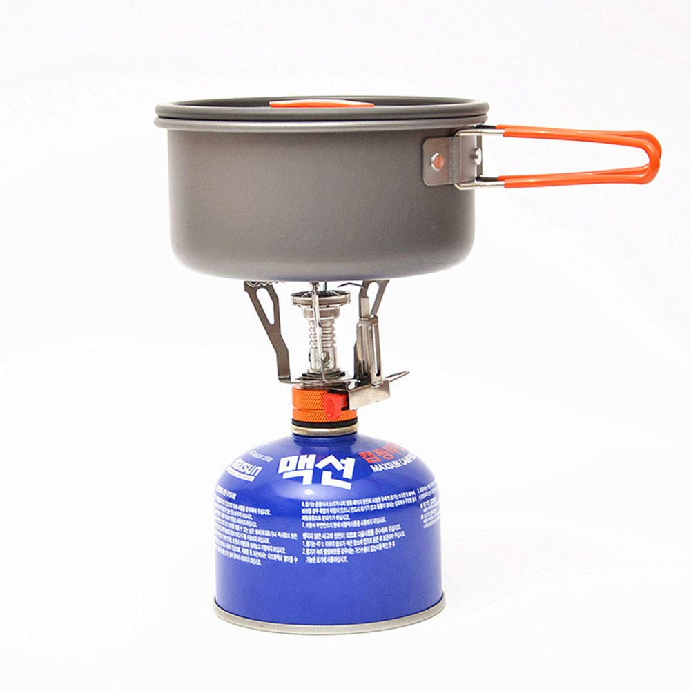 YXCXC Wild Camping Integrated Mini Stove Head with Electronic Ignition Portable Stove Stove Cooker Travel,Silver by YXCXC (Image #8)