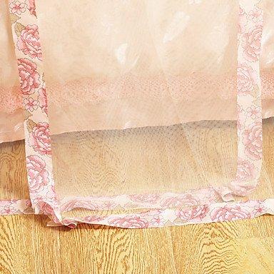 ZYT Koreanischen Palast Boden stehenden dreitürigen Edelstahl Edelstahl Edelstahl fett pastorale Prinzessin Bett Netze Verschlüsselung . king B072M9JRWZ Bettzubehr 4e915e