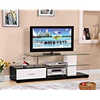 ACME Ivana White and Black TV Stand