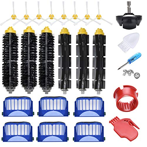 JoyBros 23-Pack Replacement Parts Compatible for iRobot Roomba Accessories 600 Series 690 680 660 651 650& 595 585 564 552 Filter Brush Roller Front Caster Wheel Replenishment Kit...