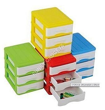 Plástico pequeño/mini 3 cajones mueble para oficina escritorio ...