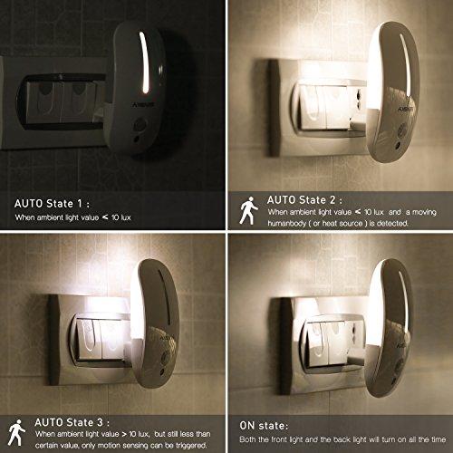 Sensky Plug In Motion Night Light Skl001 Motion Activated