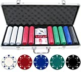 500 Piece Suited Poker Chip Set (Small Image)