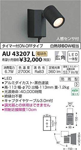 AU43207L 電球色LED人感センサ付ウトドアスポットライト B01GCAYE12
