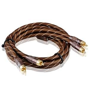 Choseal Q845 de alta calidad Digital Coaxial Cable OFC 1,5 M 4N 5FT doble magn par