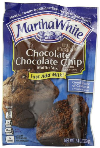 - Martha White Muffin Mix, Chocolate Chocolate Chip, 7.4-Ounce Packages (Pack of 12)