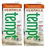 Living Harvest Tempt Hemp Milk, Unsweetened Original, 32-Ounce Containers (2 Pack)