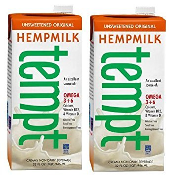 Living Harvest Tempt Hemp Milk, Unsweetened Original, 32-Ounce Containers (2 Pack) by Living Harvest