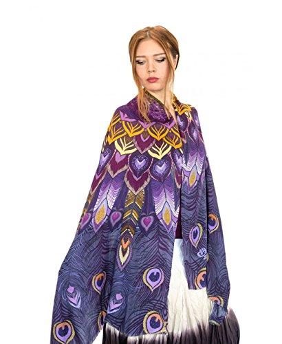Cashmere Painted Designer Purple Peacock
