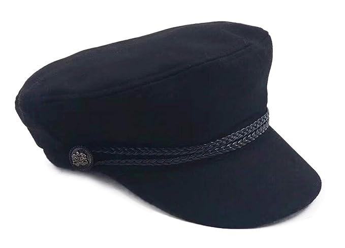 b23ca3c149520 Trendy Women Breton Hat Classic Newsboy Hat Fall Winter Cabbie Beret Caps  Black