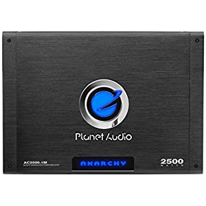 Planet Audio AC2500.1M Anarchy 2500 Watt, 2/4 Ohm Stable Class A/B, Monoblock, Mosfet Car Amplifier with Remote Subwoofer Control