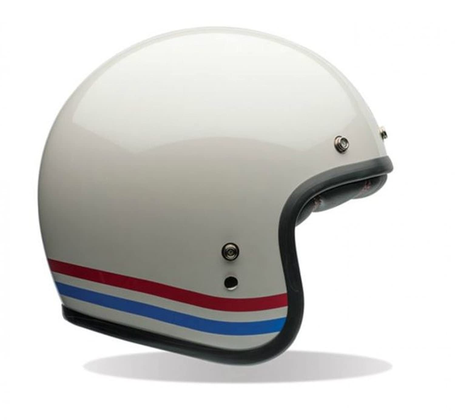 Amazon Bell Custom 500 Stripes Pearl White Motorcycle Helmet Clothing