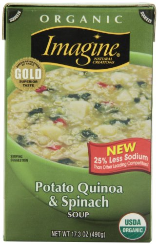 Imagine Organic Soup, Potato Quinoa & Spinach, 17.3 Ounce (Pack of12) (Packaging May Vary)