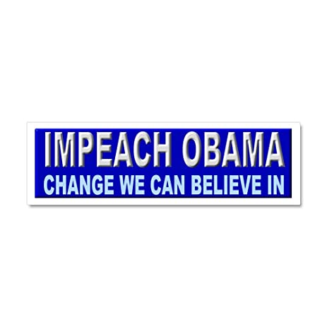 Cafepress impeach obama car magnet 10 x 3 car magnet 10 x 3