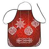 WOCACHI Christmas Womens Aprons Waterproof Tree Bell Snow Stars Wreath Turkey Card Socks Hats Caps Showcase Bib Cooking Dinner Xmas Eve Decoration Apron Deals Winter Unisex Tool Home