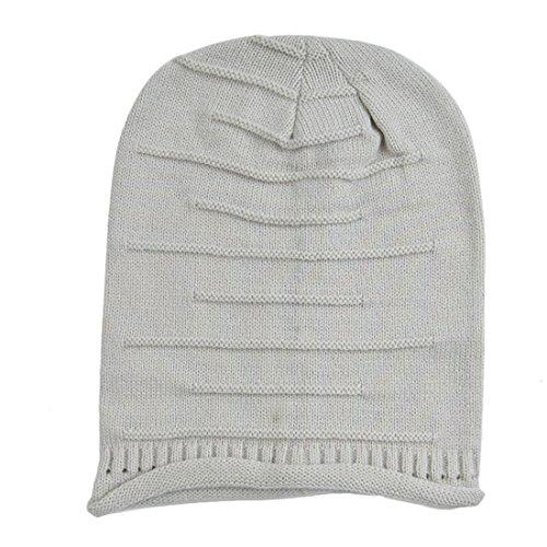 Slouchy Knit Beanie, KeepSa 2017 Brandnew Womens Beanie Moda Mujer sombreros, gorros de invierno suave caliente Gorro de punto gris