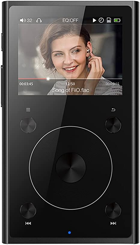 FiiO X1 II reproductor de High Definition Audio Player - 192 kHz/32bit - Bluetooth 4.0 - tochwheel a la navegación, Pantalla a color, negro