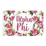 Alpha Phi Rose Pattern Letter Sorority Flag Greek Letter Use as a Banner Large 3 x 5 Feet Sign Decor A Phi