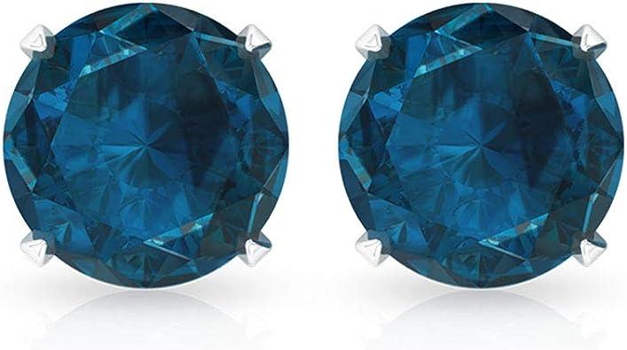 London Blue Topaz November Birthstone 5 mm Stud Earrings