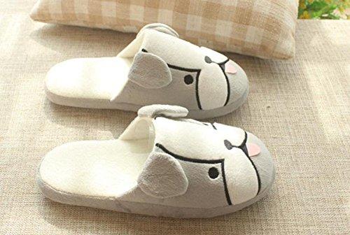 Confortable dérapant Cadeau Caolator Anti Chaussures Femme 39 Hiver Chaud 40 Femmes Maison Adulte Peluche Doublure 36 35 Gris Coton Chaussons Épaisse qvqAOf