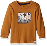 Carhartt Baby Little Boys' Long Sleeve Tee Shirt, Out Hunt Them Brown, 12M