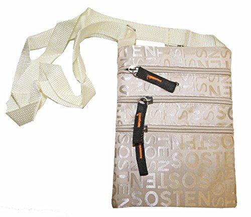 Tasche Tasche Brieftasche klein Umhängetasche gemischt Männer Frauen Beige pE5RCFa