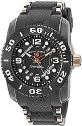 Swiss Legend Men's 'Commander Pro' Swiss Quartz Stainless Steel Casual Watch (Model: 10069-GM-014-RA)
