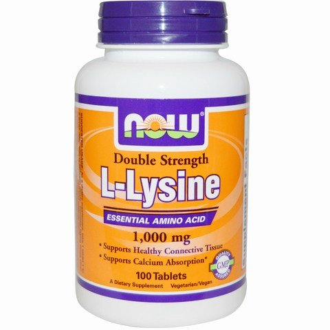 NOW Foods L-Lysine -- 1000 mg - 100 Tablets (Pack of 4) Now-okhr by Now Foods