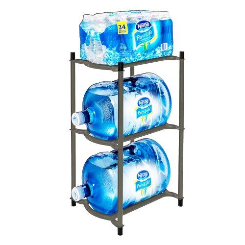 Nestlé Waters North America Modular Bottle Rack, Silver Slate For Sale