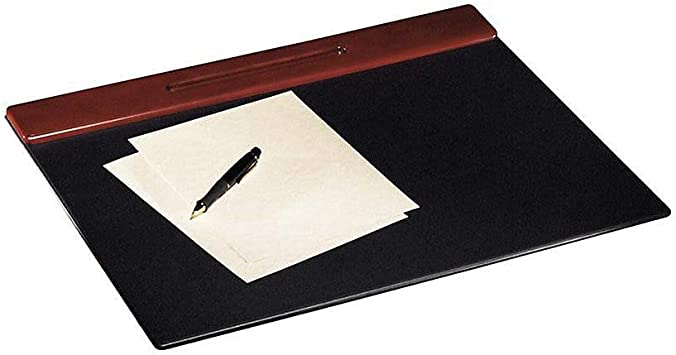 Rolodex Desk Pad Wood  Mahogany and Black 23390 New With Small Defect