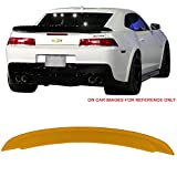 Pre-painted Trunk Spoiler Fits 2014-2015 Chevy Camaro | Factory Style ABS Painted # WA9414 Yellow Trunk Boot Lip Spoiler Wing Add On Deck Lid Other Color Available By IKON MOTORSPORTS