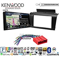 Volunteer Audio Kenwood DNX874S Double Din Radio Install Kit with GPS Navigation Apple CarPlay Android Auto Fits 2004-2009 Mazda 3