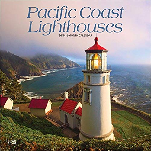 Pacific Coast Lighthouses 2019 12 x 12 Inch Monthly Square Wall Calendar, USA United States of America West Coast Scenic Nature (Multilingual Edition)