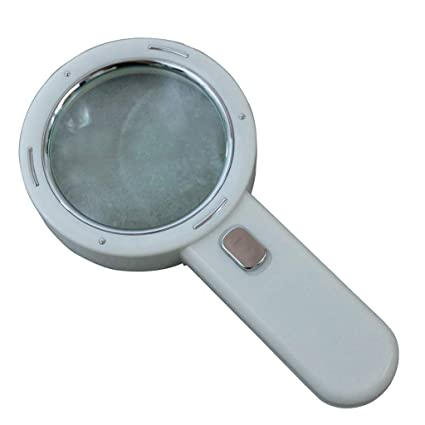 Amazon com: Illuminated 30X Magnifying Glass with LED Lights High