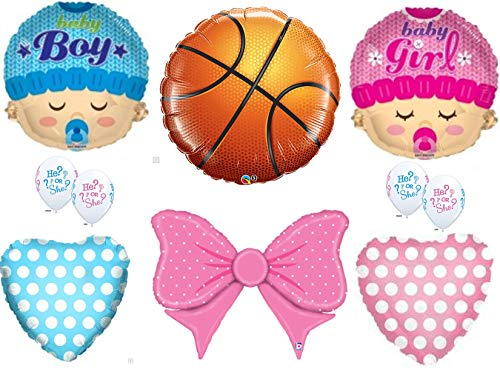 Free Throws or Cheer Bows Gender Reveal Balloons Decoration Supplies Baby Shower Boy Girl