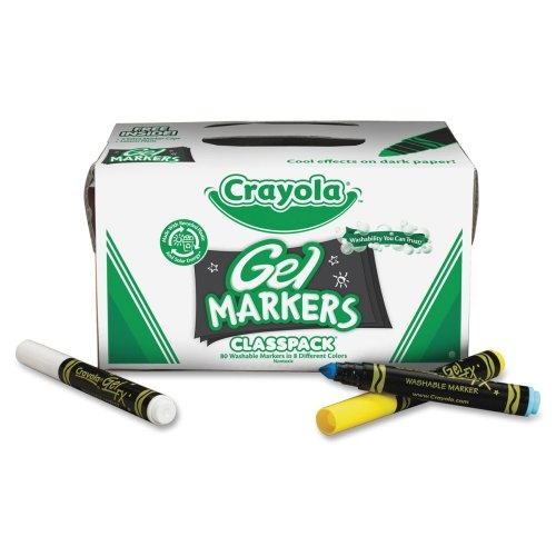 Crayola, Gel FX Washable Markers, 80 ct., 10 Each of 8 Different Colors, Great for Classroom, Educational, All-Purpose Art Tools ()