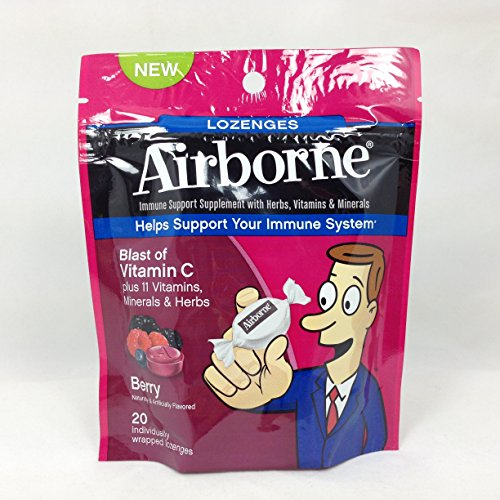 Airborne Lozenges Berry 20 CT (Pack of 6) by RECKITT BENCKISER