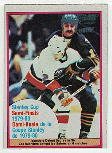 Stanley Cup Semifinals/New York Islanders vs. Buffalo Sabres (Hockey Card) 1980-81 O-Pee-Chee # 262 VG-NM