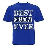 Best Grandpa Ever (Large, Royal Blue)